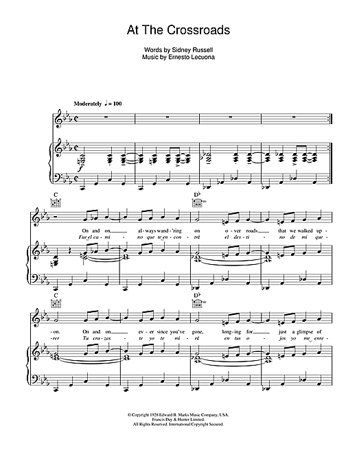 At The Crossroads Sheet Music