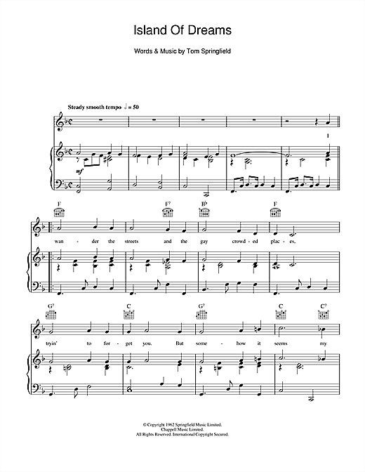 Island Of Dreams Sheet Music