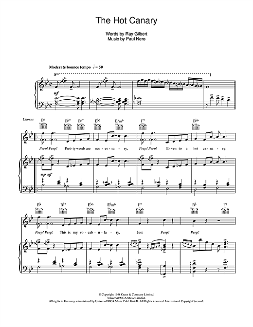 The Hot Canary Sheet Music