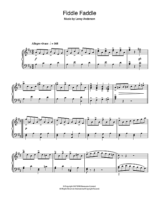 Fiddle Faddle Sheet Music