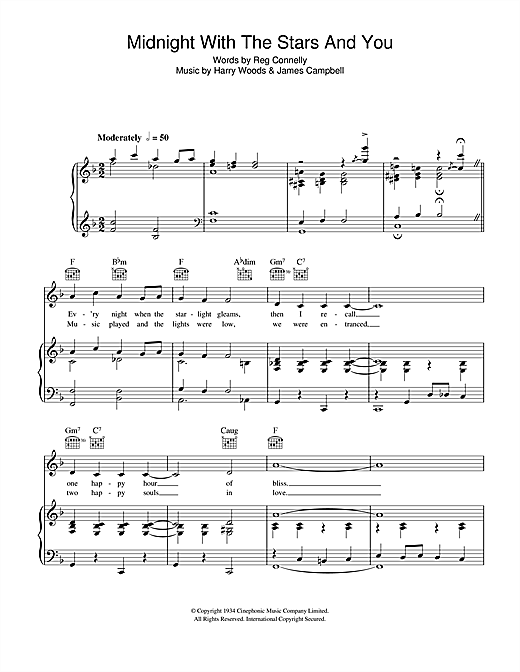 Midnight With The Stars And You Sheet Music