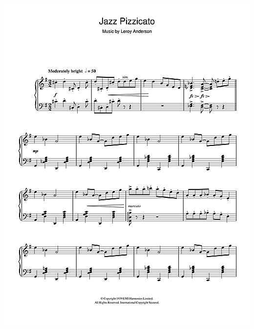 Jazz Pizzicato Sheet Music