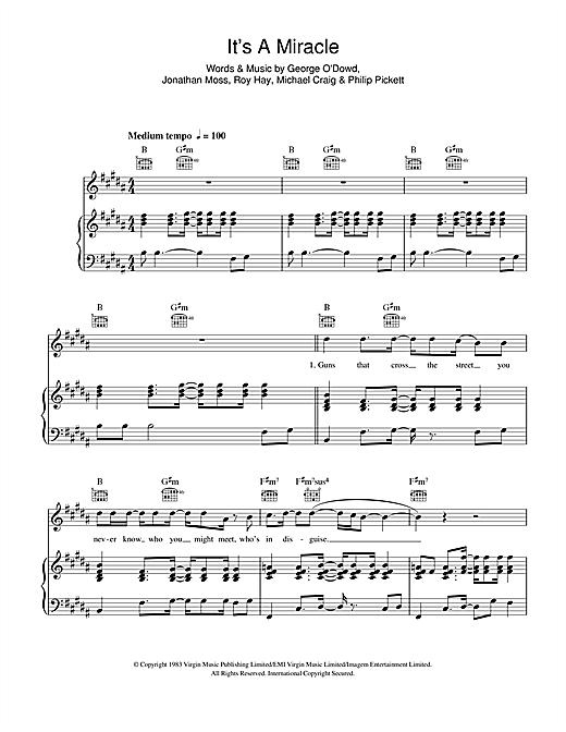 It's A Miracle Sheet Music
