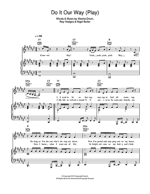 Do It Our Way (Play) Sheet Music