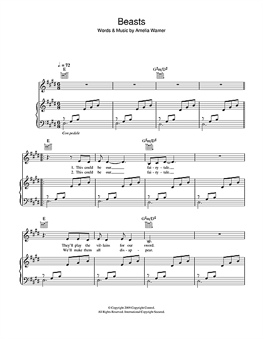 Beasts Sheet Music