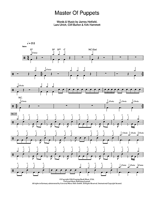 Drum metallica drum tabs : Drum : metallica drum tabs Metallica Drum also Metallica Drum Tabs ...