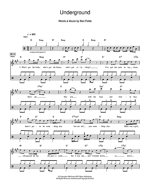 Underground Sheet Music