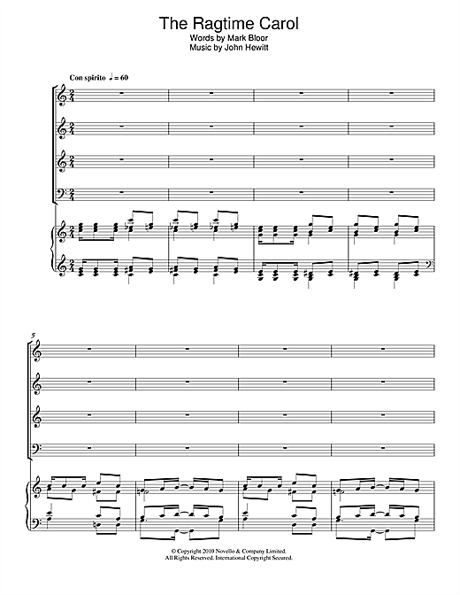 The Ragtime Carol Sheet Music