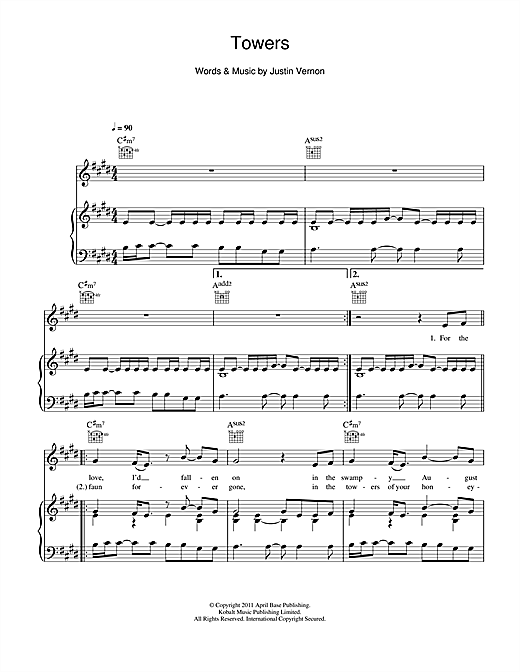 Towers Sheet Music