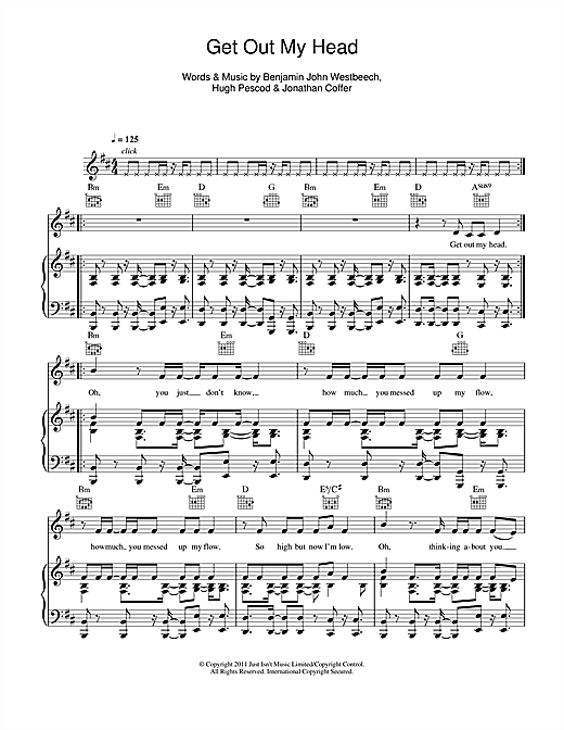 Get Out My Head Sheet Music