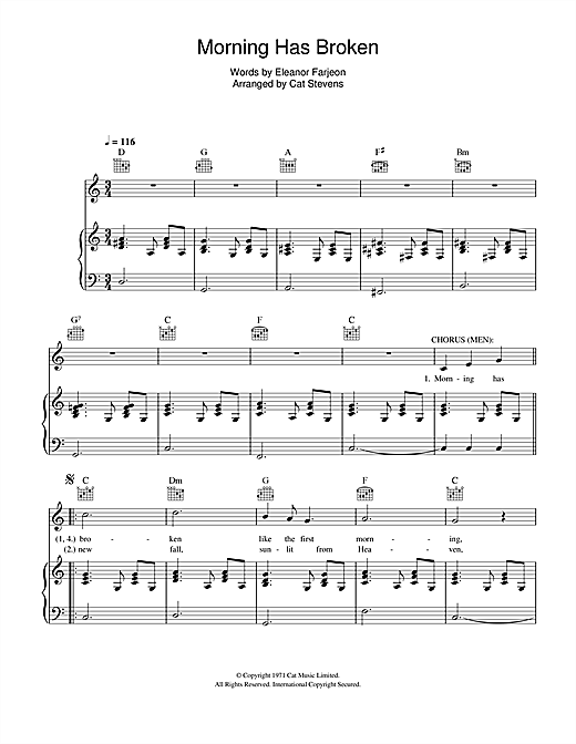 Morning Has Broken (from the musical 'Moonshadow') Sheet Music