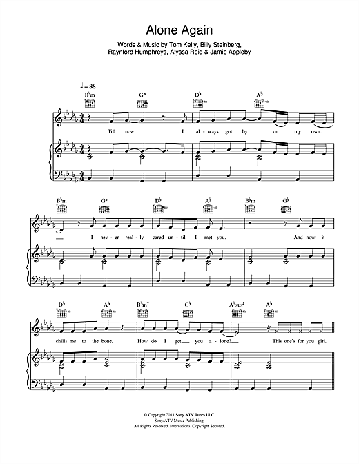 Alone Again Sheet Music