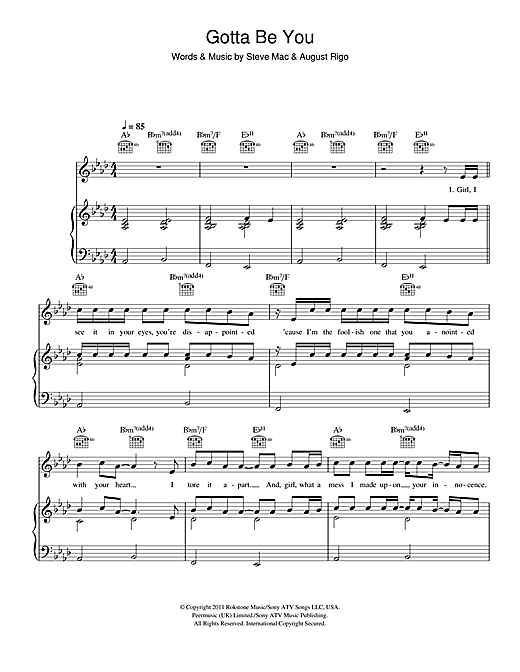Gotta Be You Sheet Music
