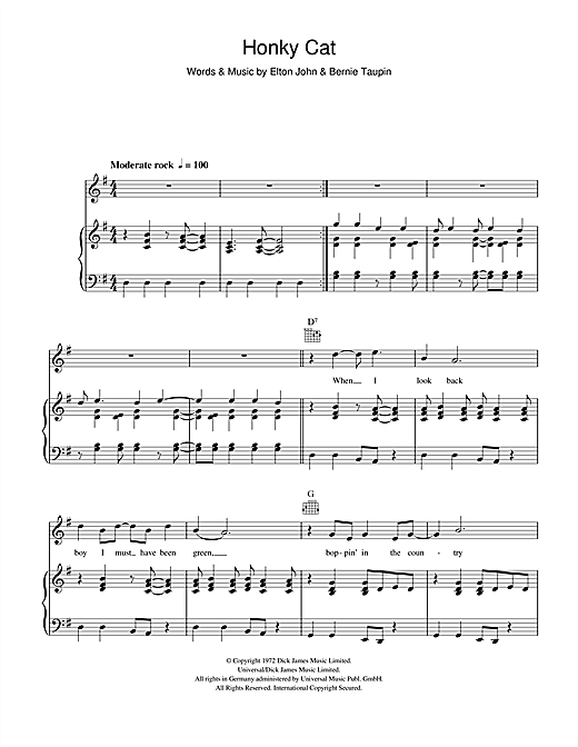 Honky Cat Sheet Music