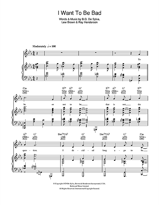 I Want To Be Bad Sheet Music