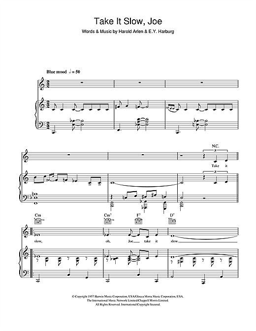 Take It Slow, Joe Sheet Music
