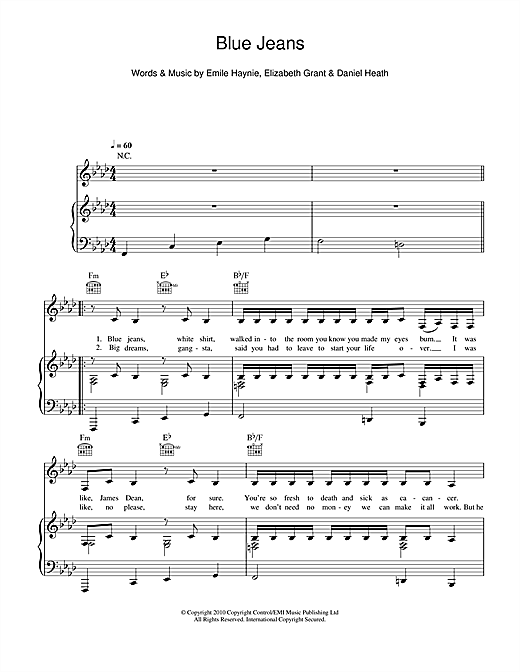 Blue Jeans Sheet Music