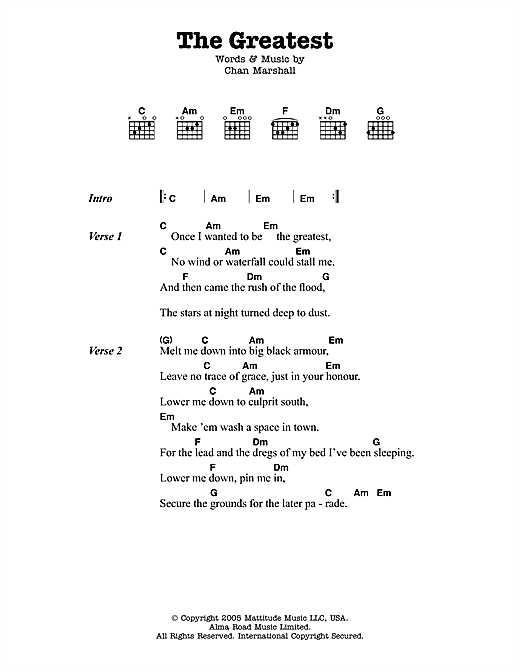 Cat power guitar chords
