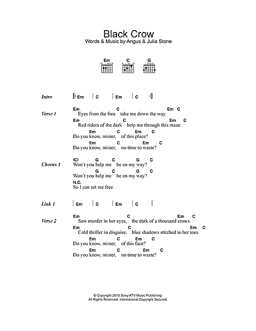 Black Crow Sheet Music