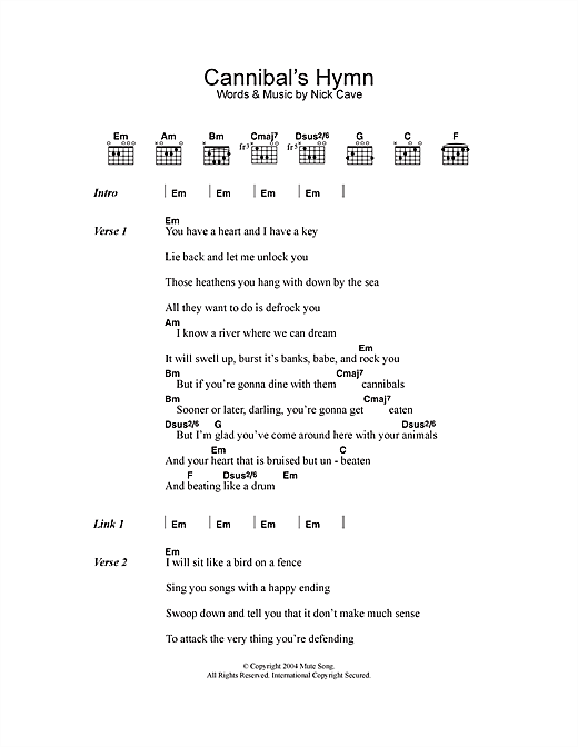 page one of Cannibal's HymnASALTTEXT