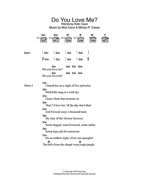 Do You Love Me? (Guitar Chords/Lyrics)