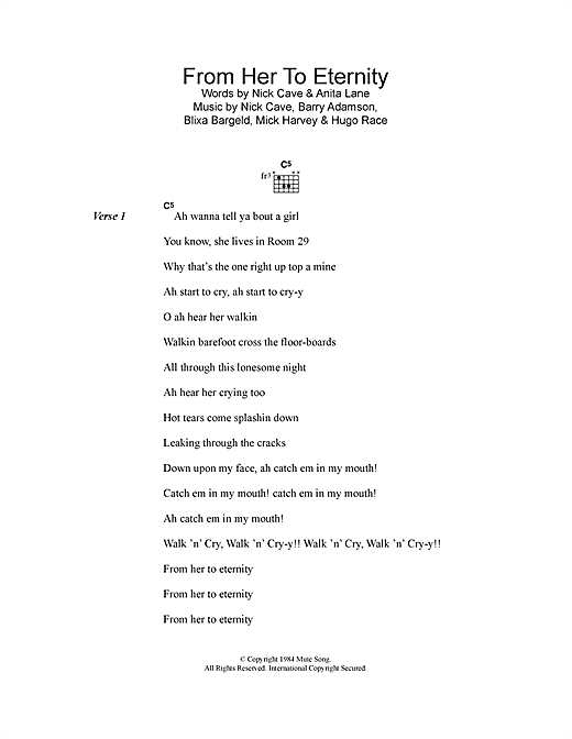 From Her To Eternity (Lyrics & Chords)