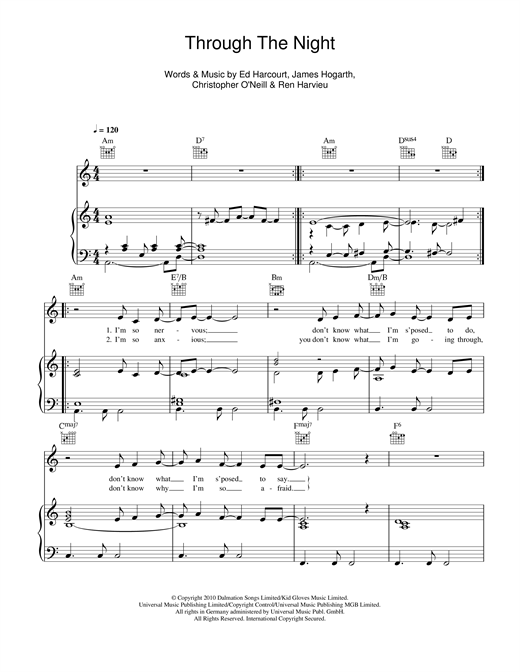 Through The Night Sheet Music