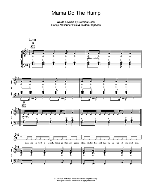Mama Do The Hump Sheet Music