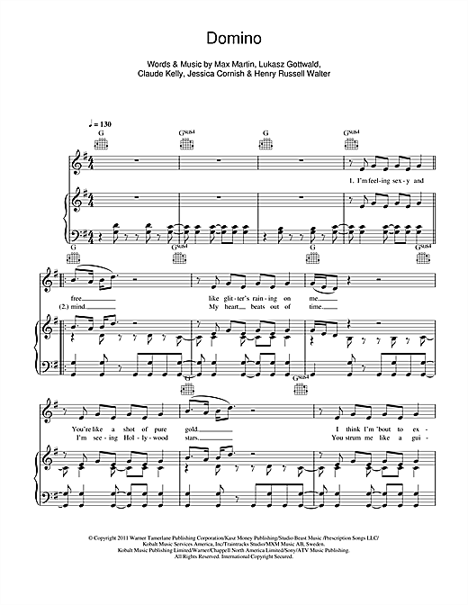 Domino Sheet Music