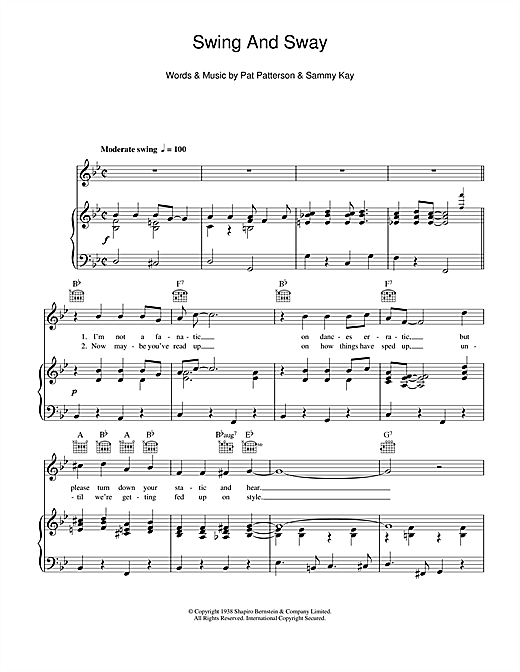 Swing And Sway Sheet Music