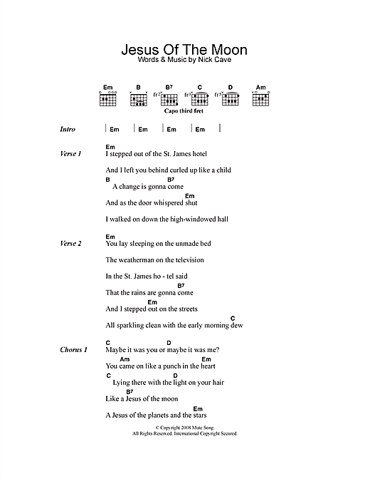 Jesus Of The Moon (Guitar Chords/Lyrics)