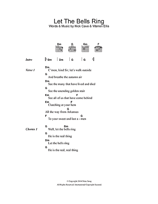 Let The Bells Ring Sheet Music