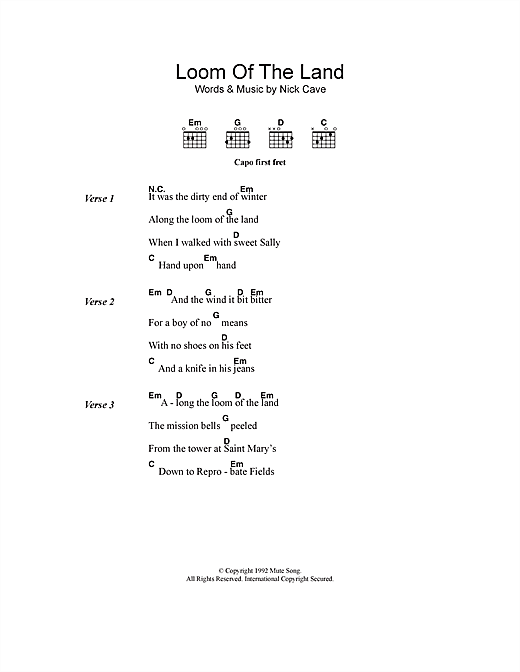 Loom Of The Land Sheet Music