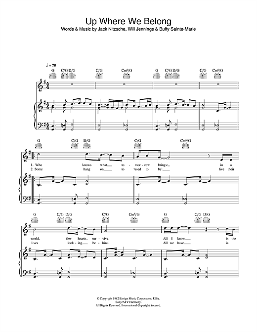 Up Where We Belong Sheet Music