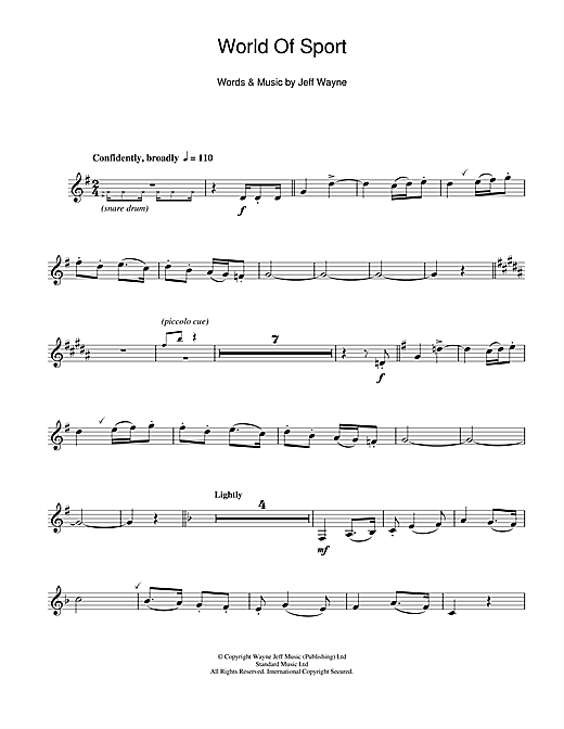 World Of Sport Sheet Music