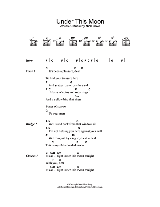 Under This Moon (Guitar Chords/Lyrics)