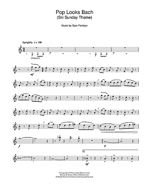 Ski Sunday Theme (Pop Looks Bach) Sheet Music