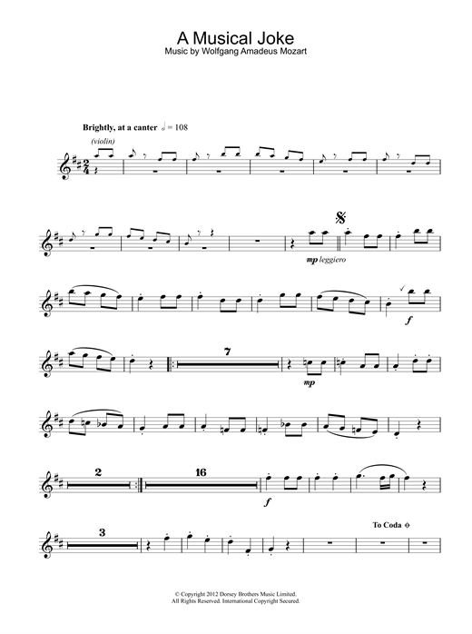 page one of A Musical JokeASALTTEXT