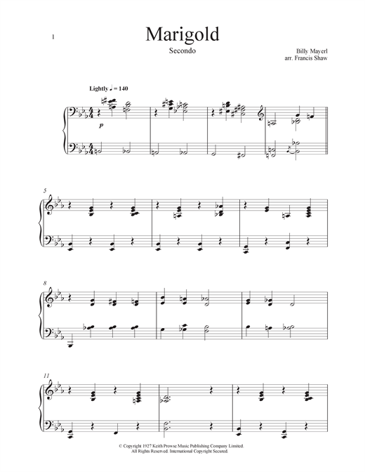 Marigold Sheet Music