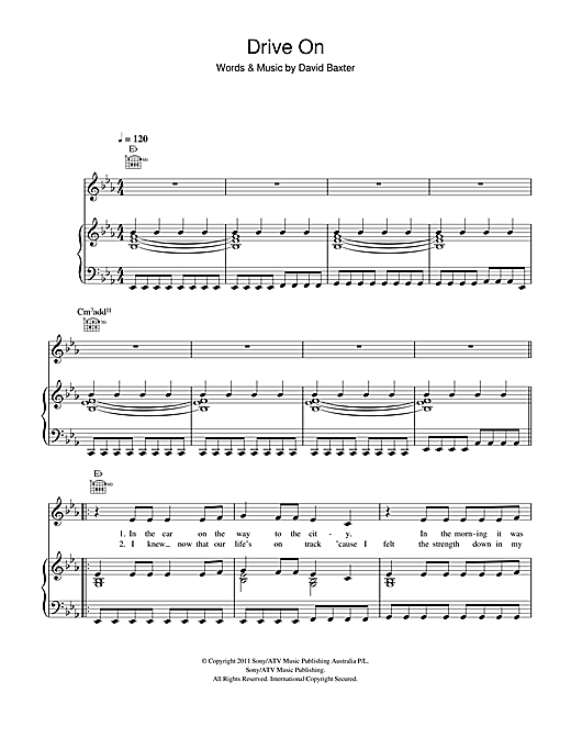 Drive On Sheet Music