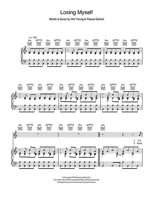 Losing Myself Sheet Music