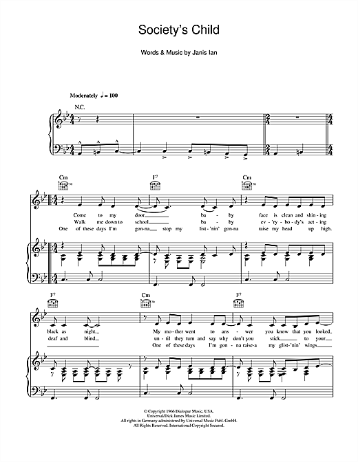 Society's Child Sheet Music