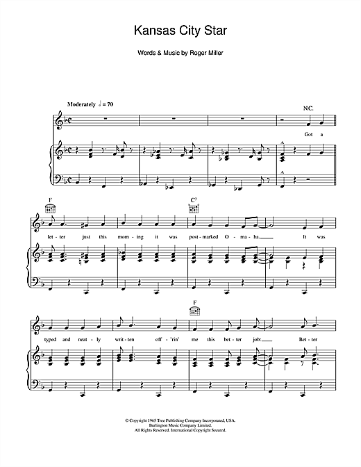 Kansas City Star Sheet Music