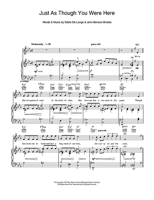 Just As Though You Were Here Sheet Music