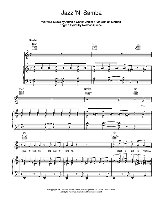 Jazz 'N' Samba (So Danco Samba) Sheet Music
