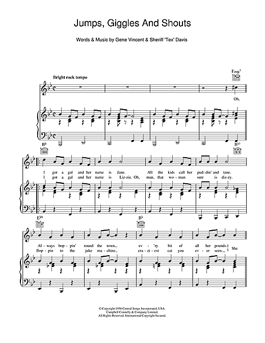 Jumps, Giggles & Shouts Sheet Music