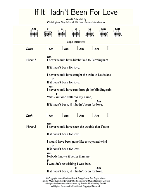 If It Hadn\'t Been For Love sheet music by Adele (Lyrics & Chords ...