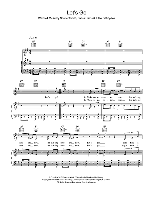 Let's Go (feat. Ne-Yo) Sheet Music
