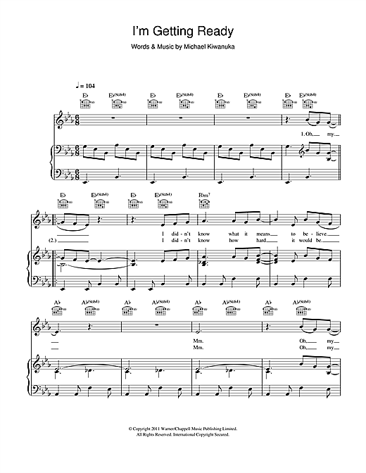 I'm Getting Ready Sheet Music