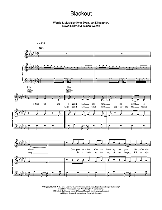 Blackout Sheet Music